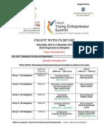 CAAYE YOUNG ENTREPRENEUR SUMMIT Colombo Program- 9 to 11 November 2013