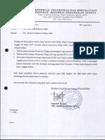 Surat Pencairan Dana Beasiswa Dikti 2013