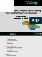 Coupled Interactive, Scalable Visual Steering Framework for Reservoir Simulators