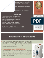 EQUIPO 1 - Interruptor Diferencial