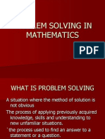 Problem Solving in Mathematics