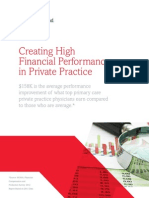 Creating High Financial Performance in Private Practice