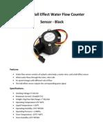 YF-S201 Hall Effect Water Flow Counter Sensor - Black