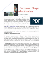 Value Patterns BY BOSTON CONSULTING GROUP
