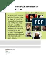 Why the Taliban Won