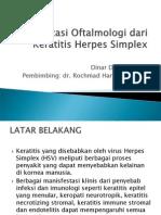 Manifestasi Oftalmologi dari Keratitis Herpes Simplex.ppt