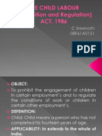 The Child labour  act