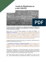 Presentación del IDAE de la Plataforma en certificación del COGITI