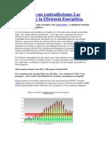 España con sus contradicciones en las energías renovables y la Eficiencia Energética