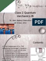 Quantum Mechanics IB