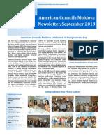 American Councils Moldova Newsletter September 2013 En