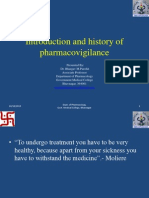 1. Introduction and History of Pharmacovigilance