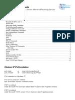Microsoft IPv6 Commands-2008!10!05