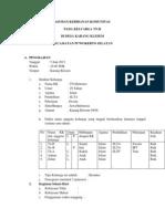 FORMAT LAPORAN ASUHAN KEBIDANAN KOMUNITAS (B.OSSIE) dwi.docx