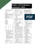 General Studies 2004(Pre)