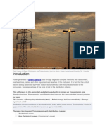 Total Losses in Power Distribution and Transmission Lines 1