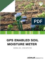 GPS Enabled Soil Moisture Meter