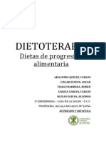 DIETOTERAPIA. PROGRESION ALIMENTARIA