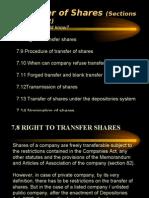 chp 7b transfer of share