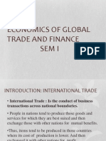 Economics of Global Trade and Finance