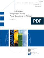World bank report on IPP experience in Pakistan
