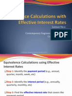 Chapter 4-2 Equivalence Analysis Using Effective Interest Rates (1)