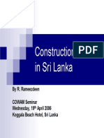 Construction Sector in Sri Lanka