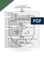 Calendar 2013 to 2015 Summary