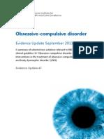 Obsessive Compulsive+Disorder+Evidence+Update+September+2013