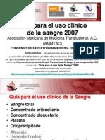 Guía para el uso clinico de la sangre 2007
