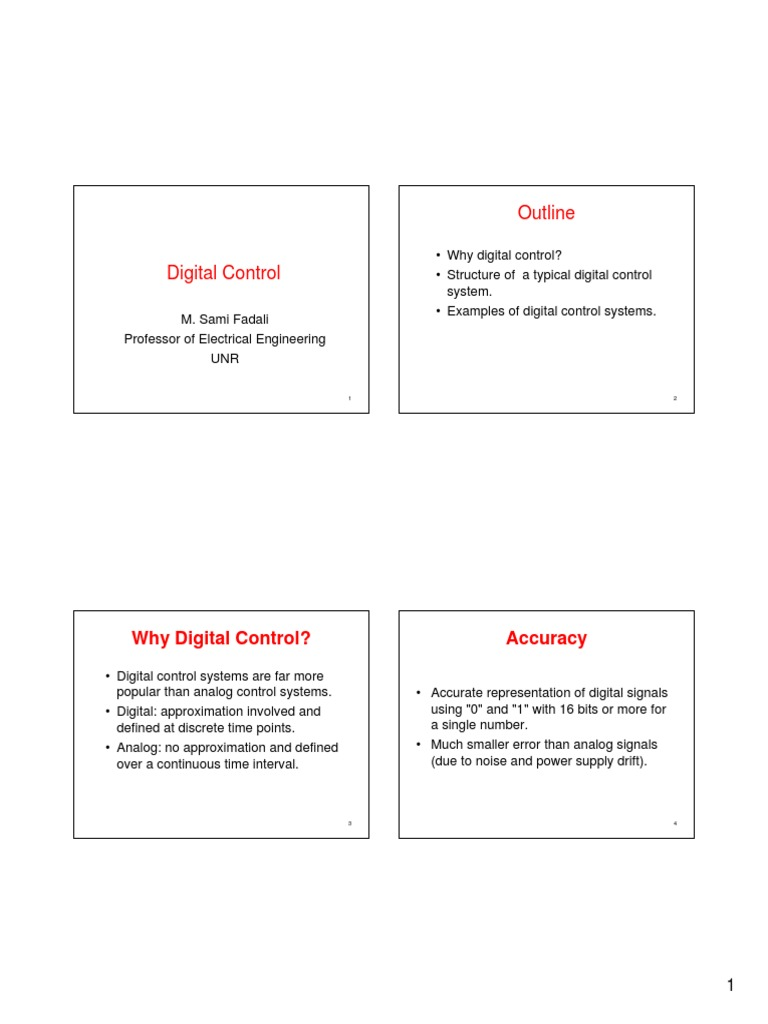 Digitalcontrolintro Signal Electrical Engineering Control System