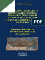 Una reflexión acerca de la literatura hagiográfica nazarí. El caso de Bugay al-salik fi asraf al-masalik
