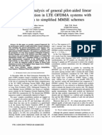Performance analysis of general pilot-aided linear channel estimation in LTE OFDMA systems with application to simplified MMSE schemes