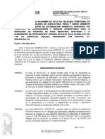 Resolución Autorización Ambiental Integrada