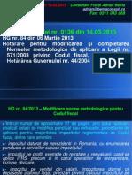 AL 22 Modificare Norme Metodologice Codul Fiscal