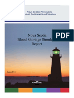 Blood Shortage Simulation Report