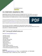 DotNetFunda.com IIS InterviewQuestions