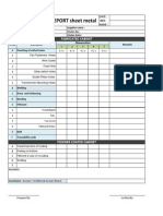 Inspection Format Sheet Metal