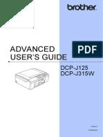 Brother DCP-J125 Cv Dcp315w Ukeng Ausr