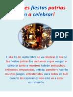 Grandes Fiestas Patrias Ven a Celebrar