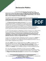 Declaración Pública XX Caso Embajador