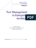 Test Management Enterprise Architect