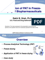 PAT in Freeze Drying
