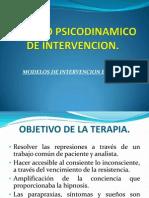 Modelo Psicodinamico de Intervencion