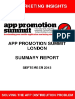 App Promotion Summit Summary Report