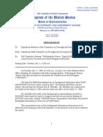 7-21-09 Republican Briefing Memo - SIGTARP Report