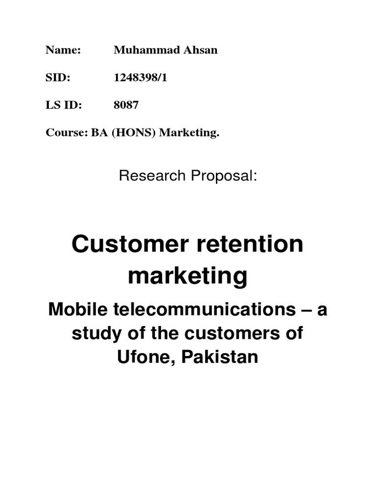 research proposal on ufone