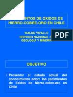 Yacimientos de Oxidos de Hierro-cobre-Oro en Chile