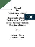Manual de Convivencia y Evaluacion Escuela Corral 2012