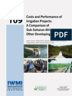 Cost and Performance of Irrigation Projects